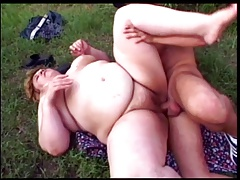 Enormous granny ravaged in