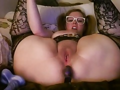 plump damsel with buttplug..