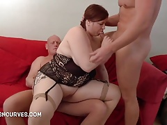 2 draped dudes romping a..