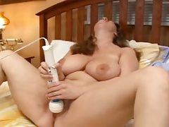 BBW on sofa with fuck stick
